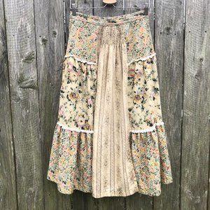 VTG Judy Knapp Floral Prairie Skirt Cottagecore 28
